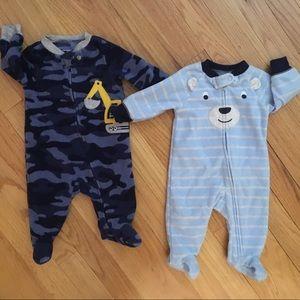 Baby boy fleece pajamas